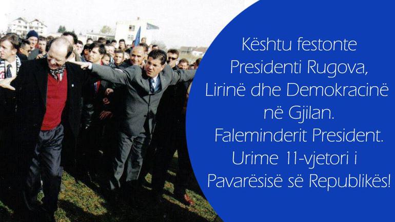 Haziri: Kështu e festonte Dr Rugova lirinë dhe demokracinë në Gjilan