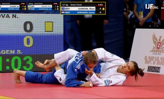 Nora Gjakova siguron medaljen e argjendtë, në finale për të artën