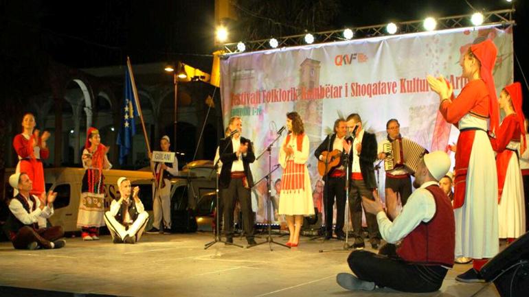 """AKV """"Gjilani"""" përfaqësoi Kosovën në Festivalin e Folklorit në Kavajë"""