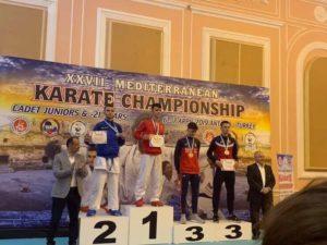 "Karateistët gjilanas kthehen me medalje nga Kampionati ""Merdian XXVII"""