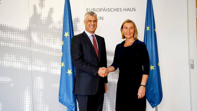 Thaçi: E kemi përkrahjen e BE-së, SHBA-së dhe tërë botës për ta arritur një marrëveshje përfundimtare me Serbinë