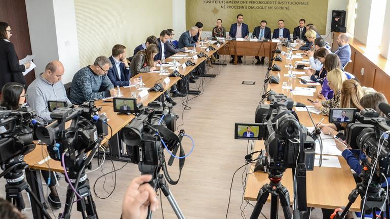 """Tryezë: """"Kushtetueshmëria dhe përgjegjësitë institucionale në procesin e Dialogut me Serbinë"""""""