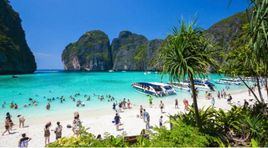 Mbyllet gjiri i famshëm tropikal i Tajlandës