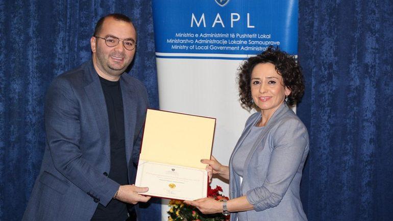 Gjilani fiton grant për performancën e mirë të vitit 2018
