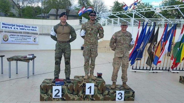 Tetar Liridon Selimi fitoi vendin e dytë në Garën Ushtarake Ndërkombëtare në Kroaci