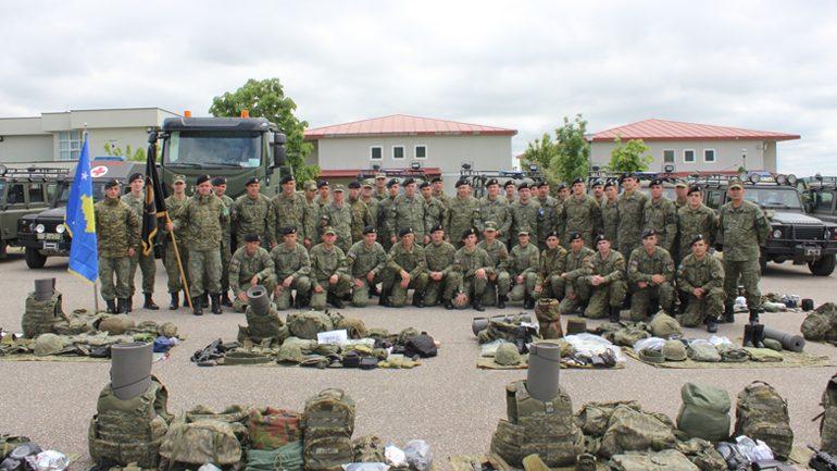"""Kontingjenti  i  Forcës së Sigurisë së Kosovës në ushtrimin e NATO-s """"Immediate Response-19"""""""