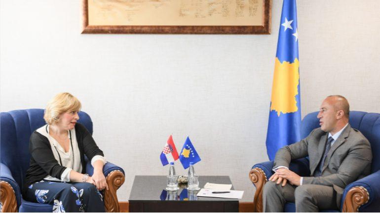 Kryeministri Haradinaj priti ambasadoren kroate Marija Kapitanovic