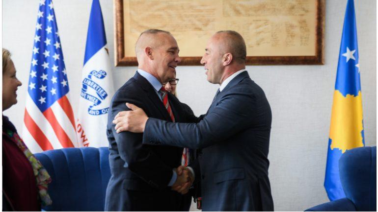 Kryeministri Haradinaj priti në takim lamtumirës Komandantin e Gardës Kombëtare të Iowa-s, Gjeneralmajor, Timothy Orr