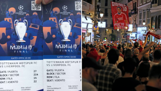 Fansi i Liverpoolit e shet biletën e finales, fiton 10,000 euro në dorë