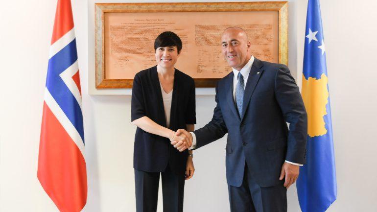 Haradinaj falënderon Norvegjinë për mbështetje të Kosovës në proceset e shtetndërtimit