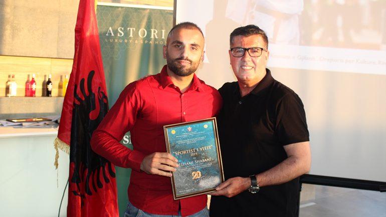 Karateisti Elhami Shabani, sportisti më i mirë i Gjilanit 2018/2019