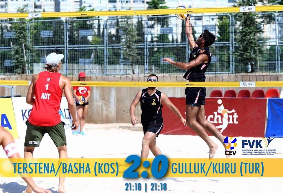 Çifti kosovar fitojnë në Kampionatin Evropian të Beach Volleyt