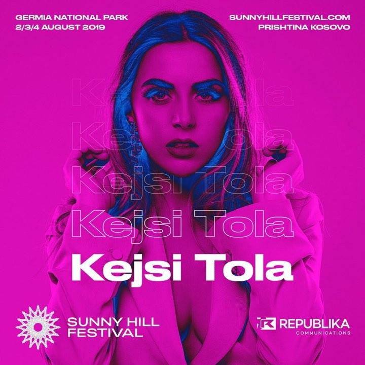"""Kejsi Tola pjesë e """"Sunny Hill Festival"""" në Prishtinë"""