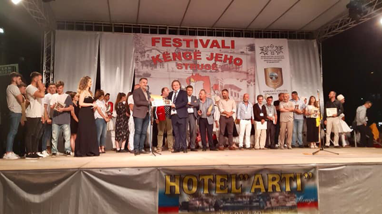 """Ansambli """"Gjilani"""" fitues i vendit të parë në Festivalin """"Këngë Jeho 2019''- Strugë"""