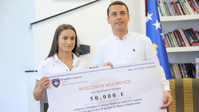 Gashi: Driton Kuka e Majlinda Kelmendi ngritën imazhin e Kosovës në botë, meritojnë shpërblimet