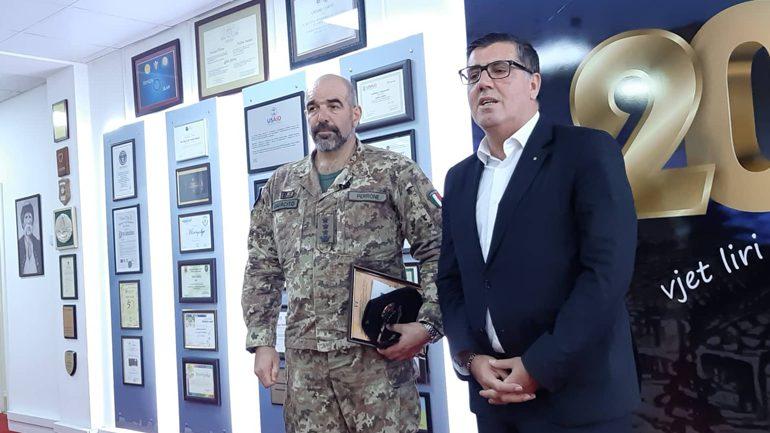 Haziri ka pritur në takim lamtumirës komandantin e KFOR-it për juglindje, Nicola Perrone