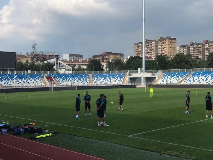Futbollistët e Kosovës stërviten para ndeshjes me Anglinë