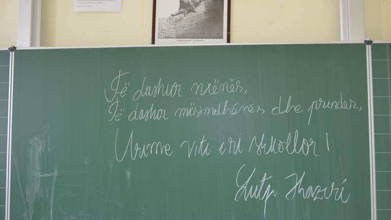 Lutfi Haziri uron nxënësit dhe mësimdhënësit për vitin e ri shkollor