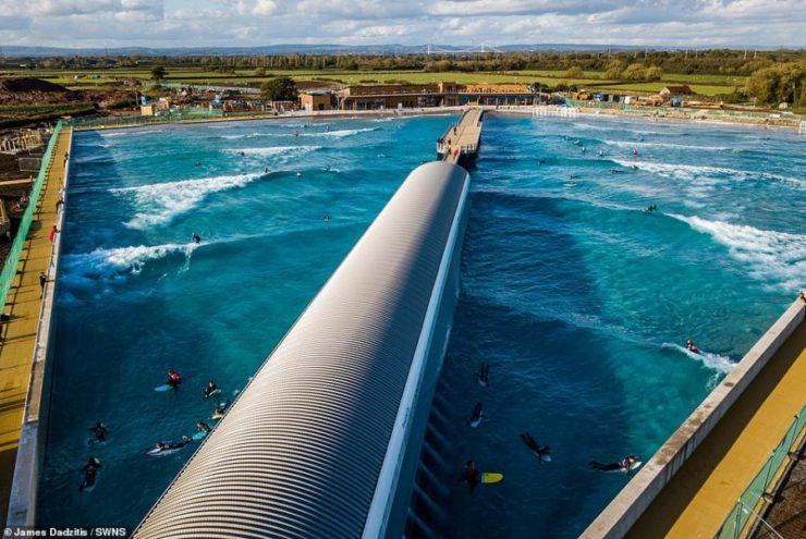 Krijohet liqeni i parë artificial për sërf në Angli