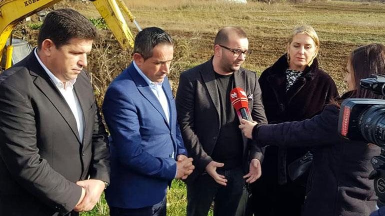 Ismajli: Me këtë projekt po rregullohet problemi i ujërave të zeza për banorët e Dobërçanit