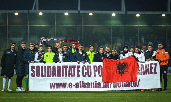 Klubi rumun solidarizohet me Shqipërinë, ky është gjesti unik