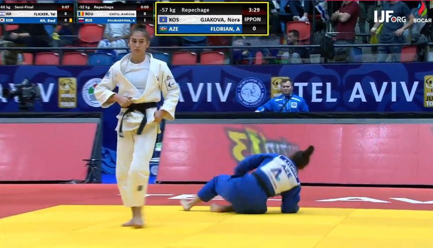 Nora Gjakova fiton medaljen e bronztë dhe 350 pikë Olimpike