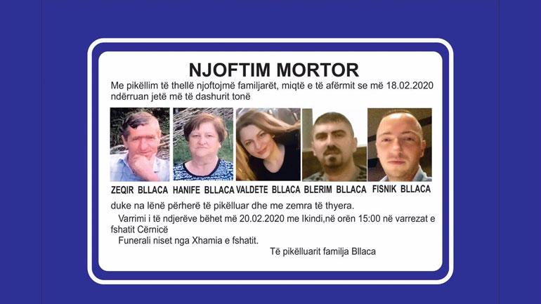 Sot në Cërnicë të Gjilanit varrosen pesë trupat e pajetë të familjes Bllaca