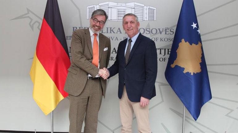 Ministri Anton Quni priti në takim ambasadorin e Gjermanisë Christian Heldt