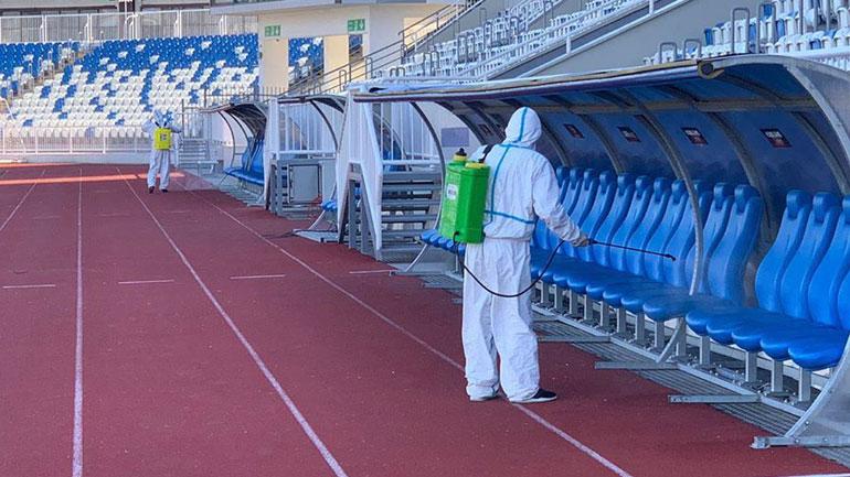 "Dezinfektohet stadiumi ""Fadil Vokrri"""