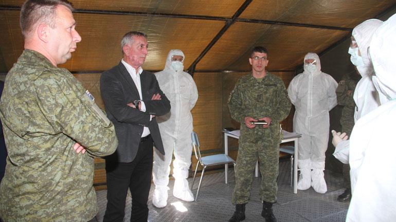 Ministri i Mbrojtjes Anton Quni njoftohet për nivelin e gatishmërisë operacionale të FSK-së