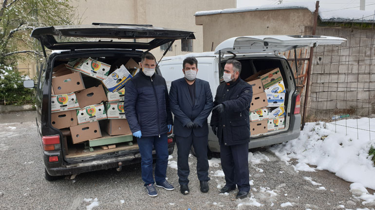 KBI e Gjilanit ndanë 100 pako ushqimore dhe 3750 kg miell për nevojtarët