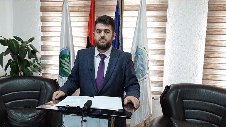 Urimi i kreut të Këshillit të Bashkësisë Islame të Gjilanit, Naim Aliu me rastin e festës së Fitër Bajramit