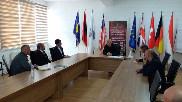 Kryetari i Vitisë priti në takim zv.ministrin e Infrastrukturës dhe Ambientit