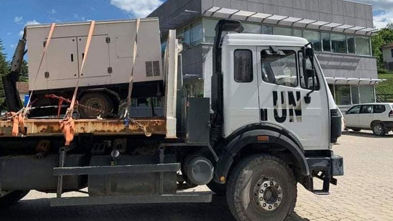 Komuna e Kamenicës pranon donacion një gjenerator nga UNMIK-u