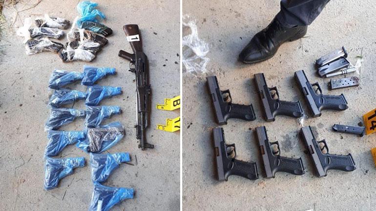 Policia e Kosovës sekuestron mbi 40 armë gjatë një operacioni policor (FOTO)