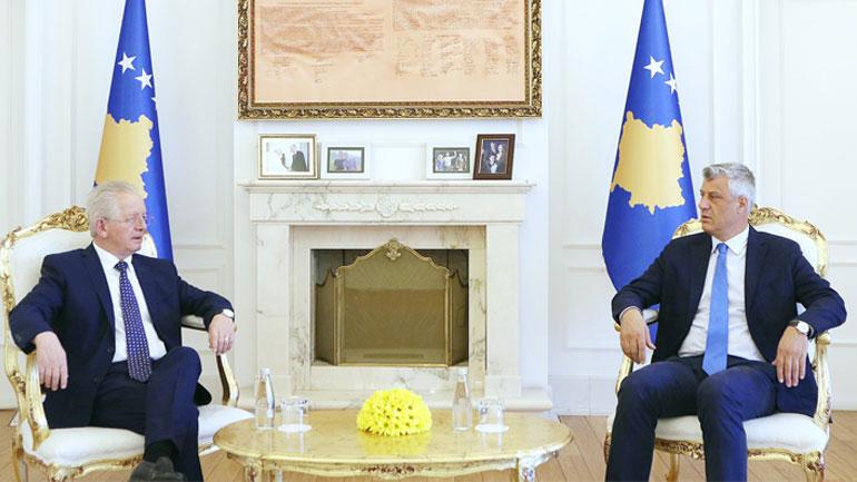 Presidenti Thaçi priti Koordinatorin për Dialog: Në Bruksel do të dialogohet vetëm për njohjen ndërshtetërore