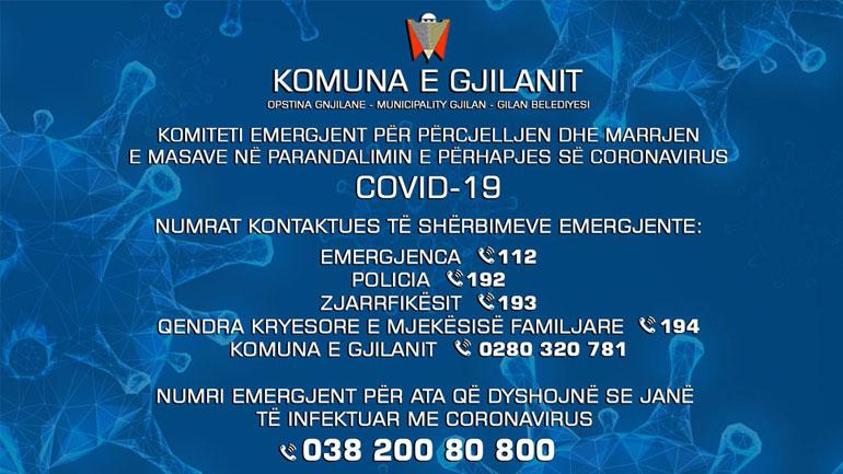 COVID-19, numrat kontaktues të shërbimeve emergjente