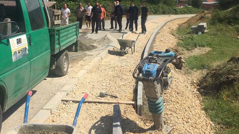 Filluan punimet në ndërtimin e trotuarit Lubishtë-Ramnishtë