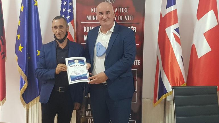 Mirënjohje për kreun e Vitisë edhe nga Shoqata Ndërkomunale e të Verbërve në Gjilan