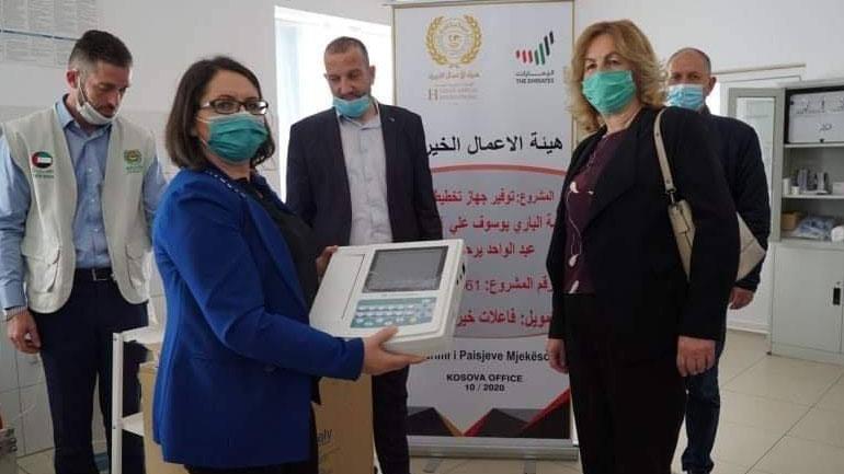 """Organizata """"Human Appeal Internacional"""" dhuron donacion per QKMF-në e Vitisë"""