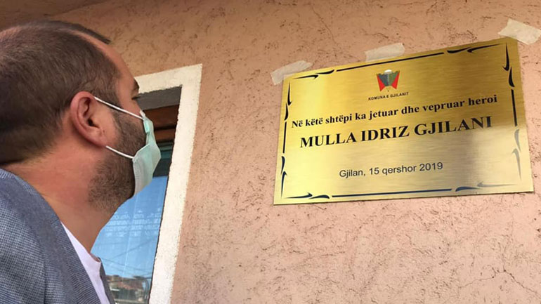Vendoset pllakë përkujtimore në shtëpinë ku jetoi dhe veproi atdhetari Mulla Idriz Gjilani