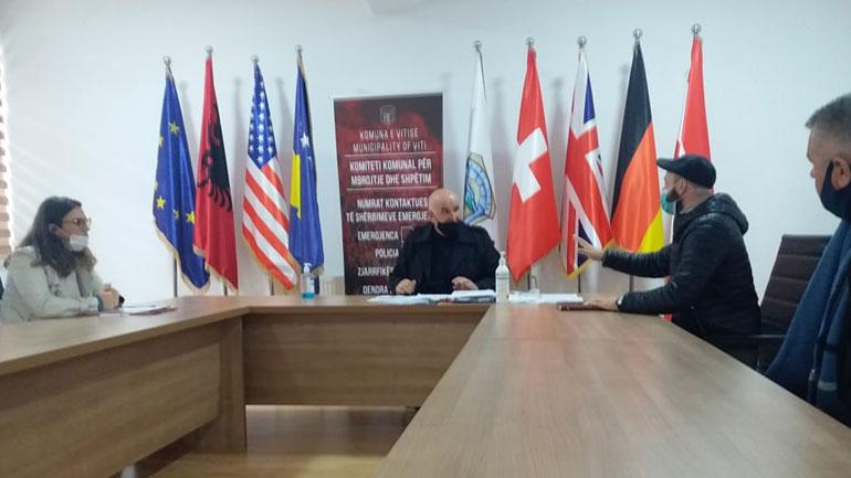 Kryetari Haliti priti në takim përfaqësuesit e Caritas Kosova