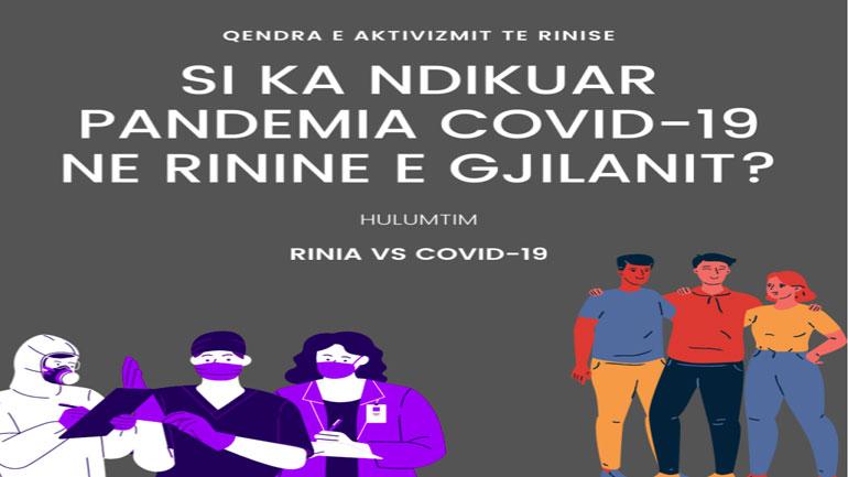 Hulumtim në lidhje me ndikimet e pandemisë te të rinjtë në Gjilan