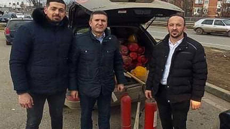 Kamenica ka pranuar donacion bombola dhe helmeta
