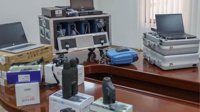 Policia e Kosovës ka pranuar një donacion me pajisje nga shteti gjerman