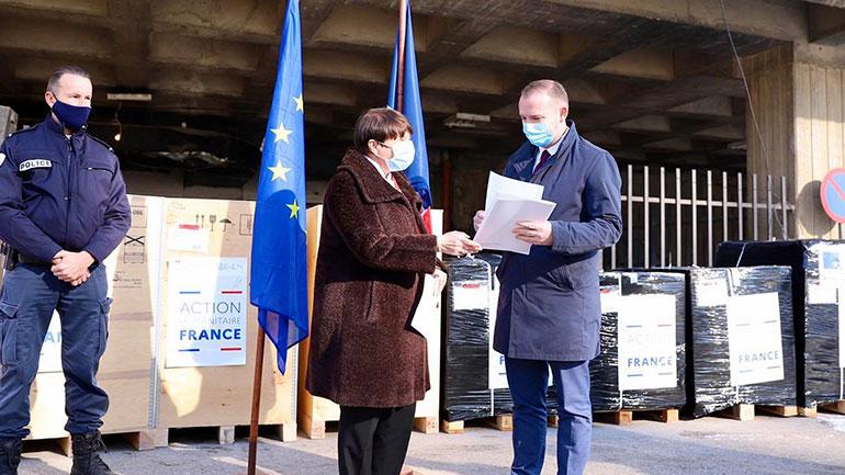 Ministria e Shëndetësisë ka pranuar sot një donacion nga ambasada e Francës