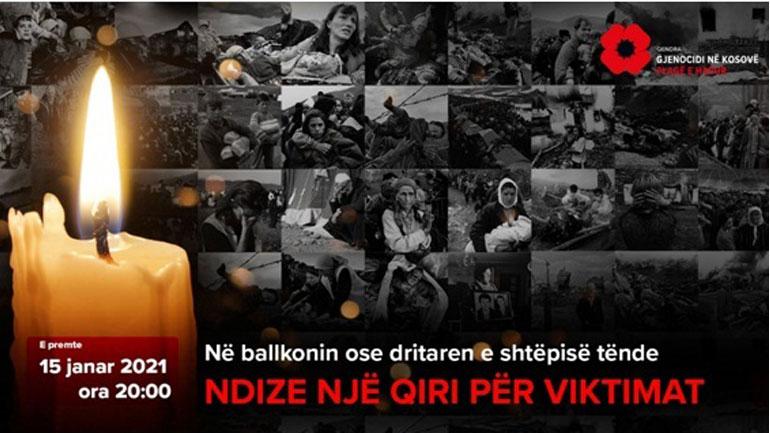 Të premten më 15 janar do të ndizen qirinj në përkujtim të viktimave të gjenocidit në Kosovë