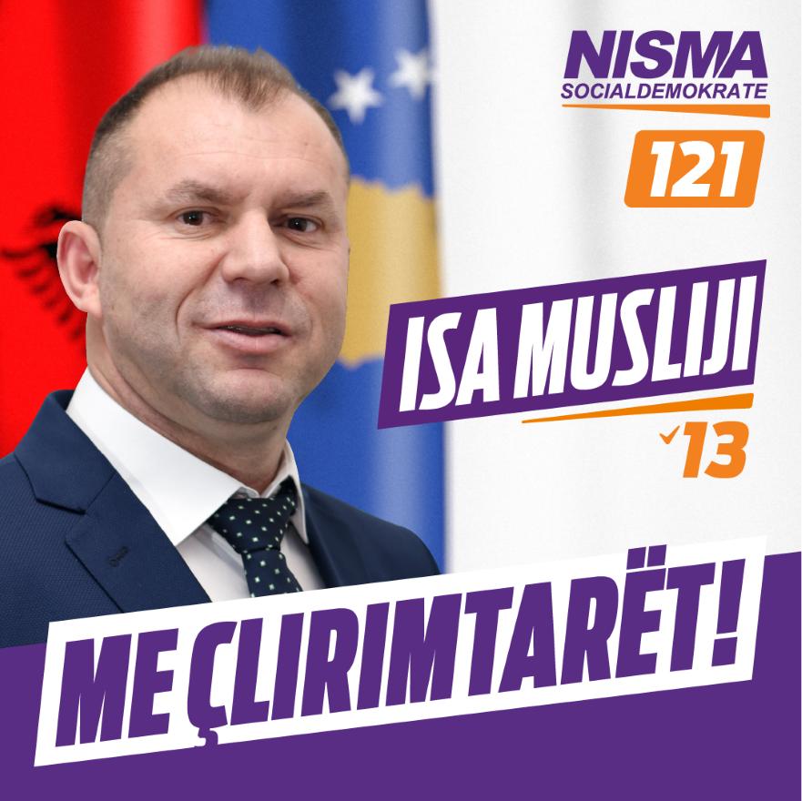 Isa Musliu falënderon strukturat e Nismës dhe qytetarët për mbështetje të vazhdueshme
