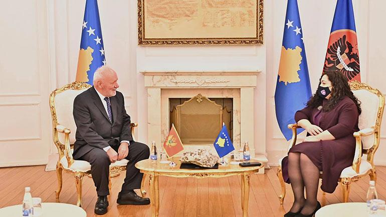 U.d. Presidentja Osmani priti në takim lamtumirës ambasadorin Dinosha