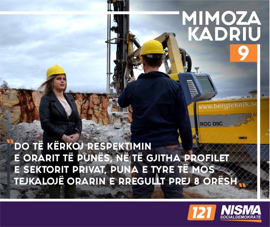 Mimoza Kadriu: Angazhimet e mia për punëtorët e sektorit privat